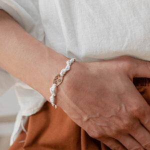 bracelet cordon karu blanc